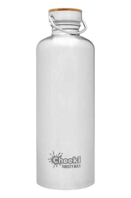 Bottle Stainless Steel Silver Thirsty Max 1.6L - Cheeki
