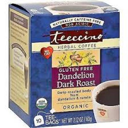 Herbal Coffee/Tea Dandelion Dark Roast 10 Bags - Teeccino