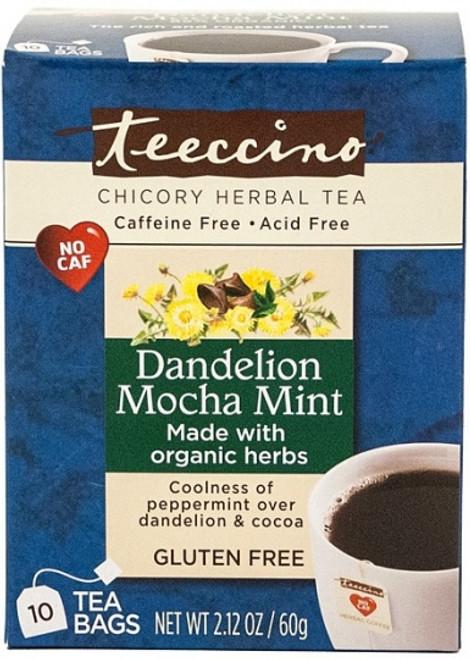 Herbal Coffee/Tea Dandelion Mocha Mint 10 Bags - Teeccino