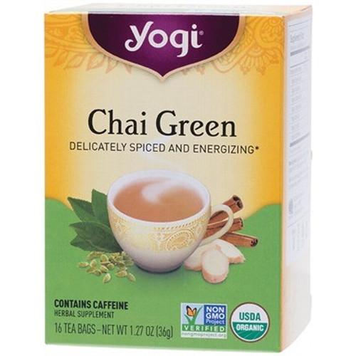 Chai Green Tea 16 Bags - Yogi Tea 16