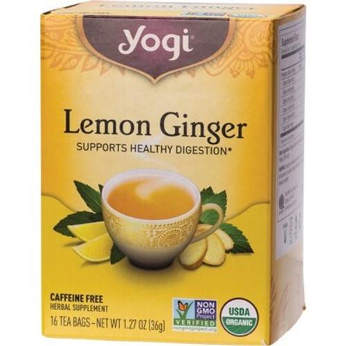 Lemon Ginger Tea 16 Bags - Yogi Tea