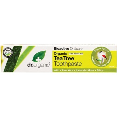 Toothpaste Tea Tree Whitening  100ml - Dr Organic