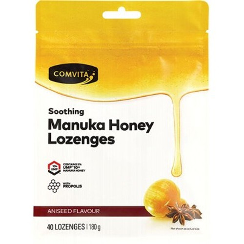 Manuka Honey Lozenge Aniseed 40 x 4.5g - Comvita