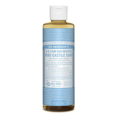 Baby Mild Unscented Pure Castile Hemp Soap 473ml - Dr Bronner