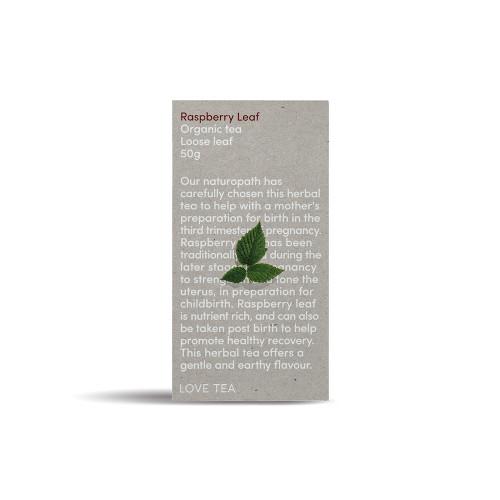 Raspberry Tea Loose Leaf Organic 50g - Love Tea