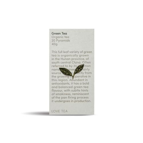 Green Tea 20 Pyramid Bags Organic - Love Tea