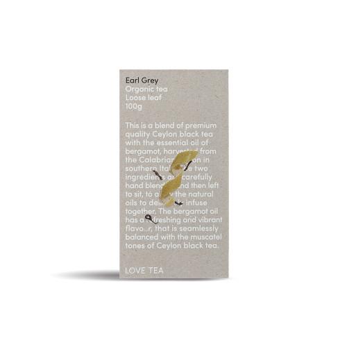 Earl Grey Tea Loose Leaf  Organic 100g  - Love Tea