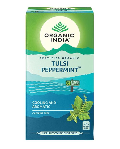 Tulsi Peppermint Tea  Organic 25 Bags - Organic India
