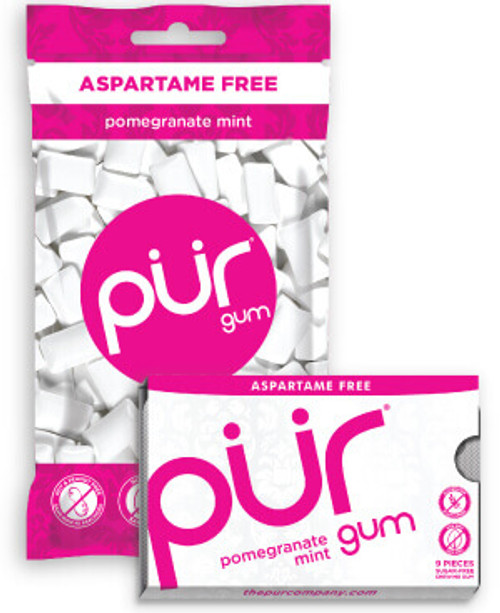 Chewing Gum Pomegranate Mint 12.6g - PUR