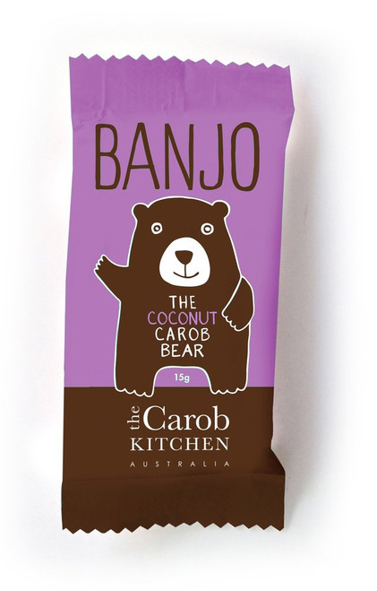 Carob Banjo Bear Coconut 15g - The Carob Kitchen