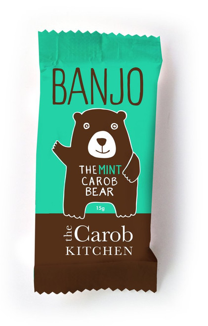 Carob Banjo Bear Mint - The Carob Kitchen 15g