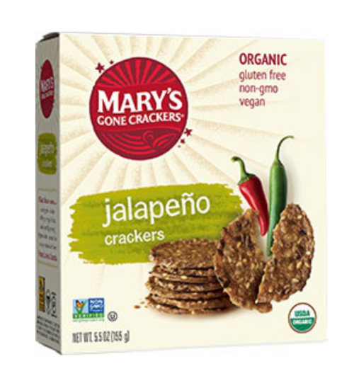 Jalapeno Hot & Spicy Crackers Organic & Gluten Free  184g - Mary's Gone Crackers