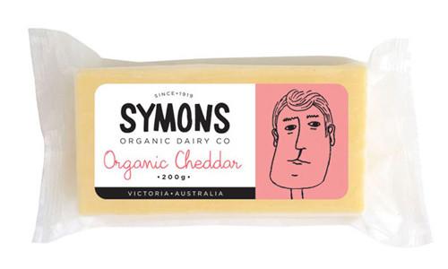 Cheddar Organic 200g - Symons