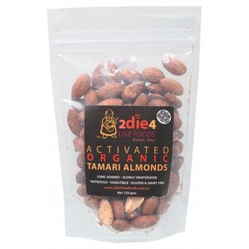 Almonds Activated Roasted Tamari Organic 120g - 2Die4