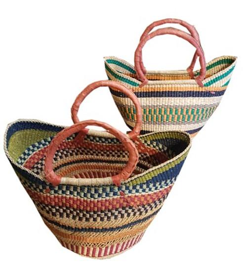 African Basket - UShopper Short Handles Coloured