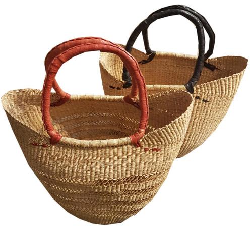 African Basket - UShopper Short Handles Natural