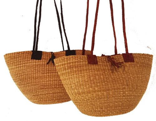 African Shoulder Bag - Natural