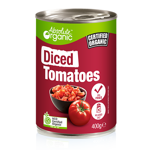 Tomatoes Diced 400g - Absolute Organic