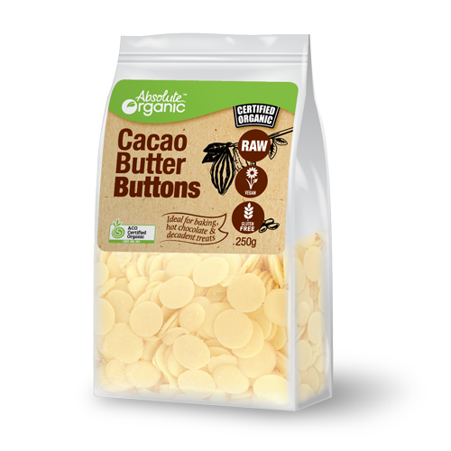 Cacao Butter Buttons Raw Organic 250g - Absolute Organic