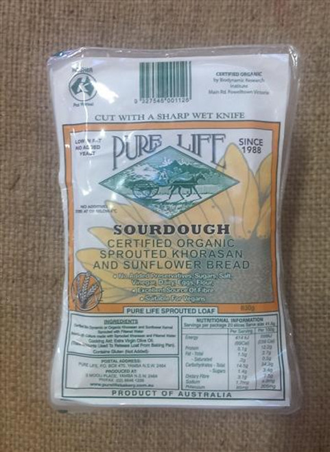 Sprouted Bread Sourdough - Pure Life 1.1kg *Pre-order to ensure Supply