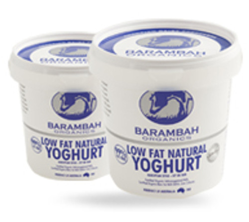 Yoghurt Natural Low Fat Organic 500g- Barambah