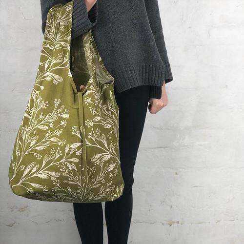 Hampi Shopping Bag Mixed Designs- Apple Green Duck