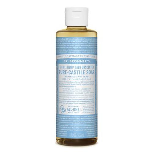 Baby Mild Unscented Pure Castile Hemp Soap 237ml - Dr Bronner