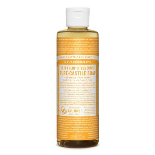 Citrus Orange Pure Castile Hemp Soap 473ml - Dr Bronner