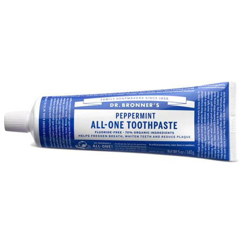 Toothpaste Peppermint 140g - Dr Bronners