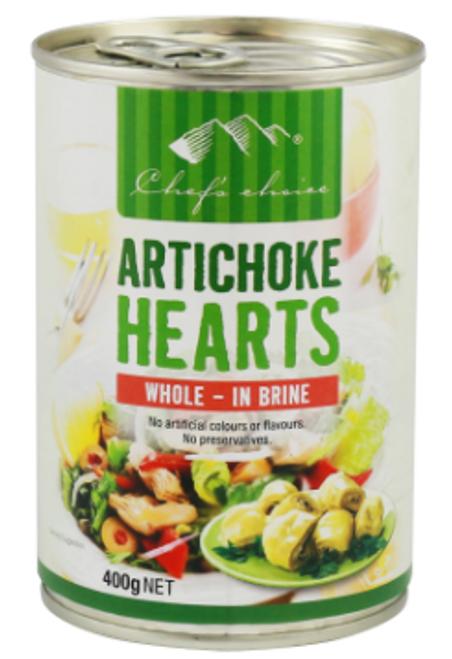 Artichoke Hearts in Brine 400g - Chefs Choice