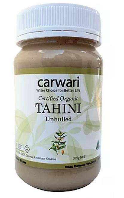 Tahini Unhulled Organic 375g - Carwari