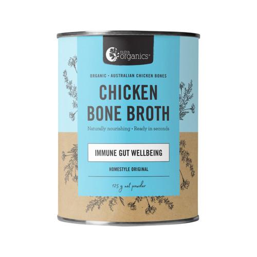 Chicken Bone Broth Homestyle Original Organic 125g Canister - Nutra Organics