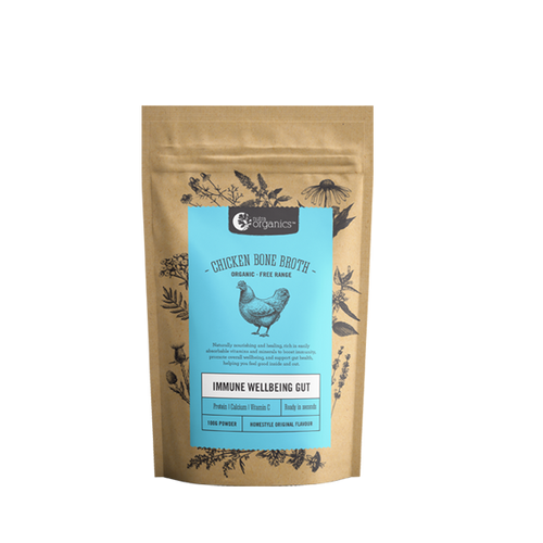Chicken Bone Broth Homestyle Original Organic 100g - Nutra Organics