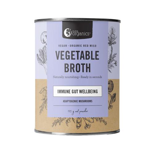 Vegetable Broth Adaptogenic Mushroom Organic 125g Canister - Nutra Organics