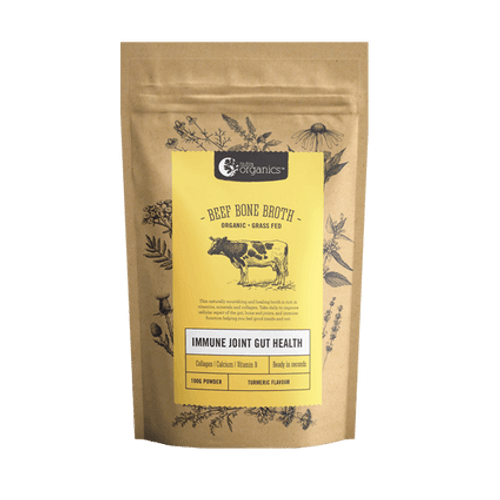 Beef Bone Broth Turmeric Organic 100g - Nutra Organics