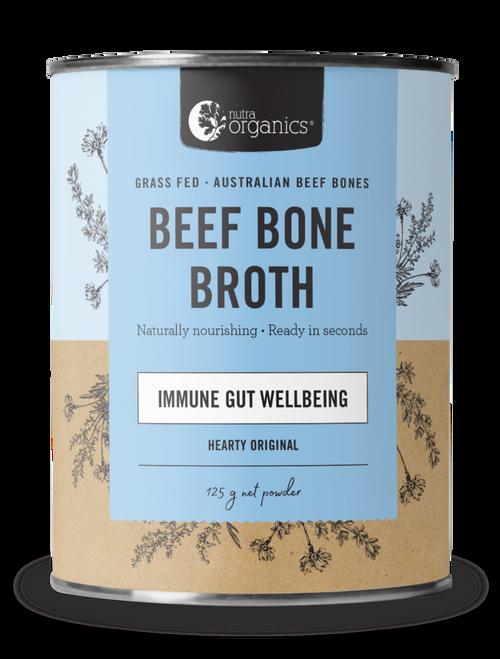 Beef Bone Broth Original Organic 125g Canister - Nutra Organics