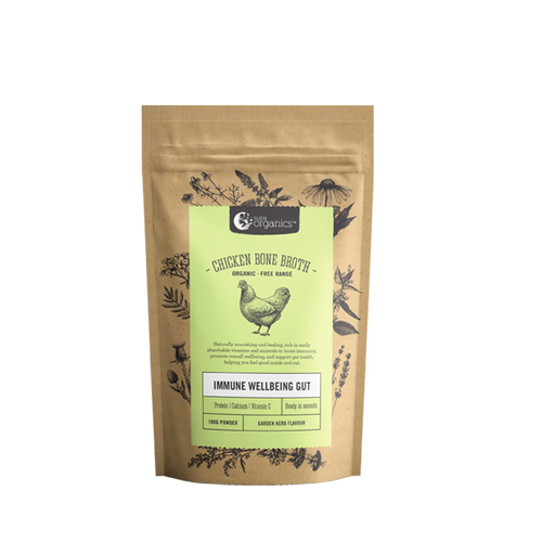 Chicken Bone Broth Herb Organic 100g - Nutra Organics