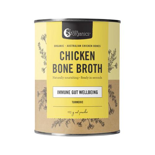 Chicken Bone Broth Turmeric Organic 125g Canister - Nutra Organics