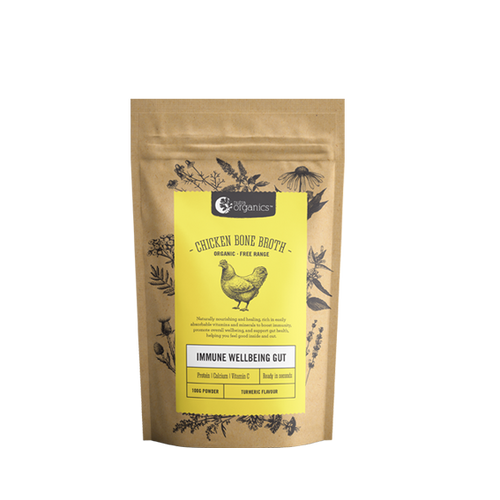 Chicken Bone Broth Turmeric Organic 100g - Nutra Organics