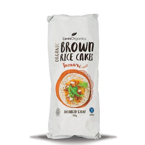 Brown Rice Cakes Tamari Soy Organic 110g - Ceres Organics