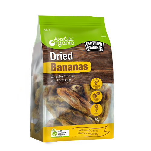 Bananas Dried Organic 150g - Absolute Organic