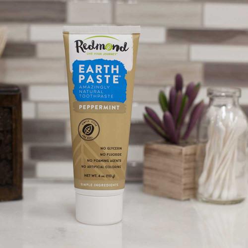 Toothpaste Peppermint 113g - Redmond Earthpaste