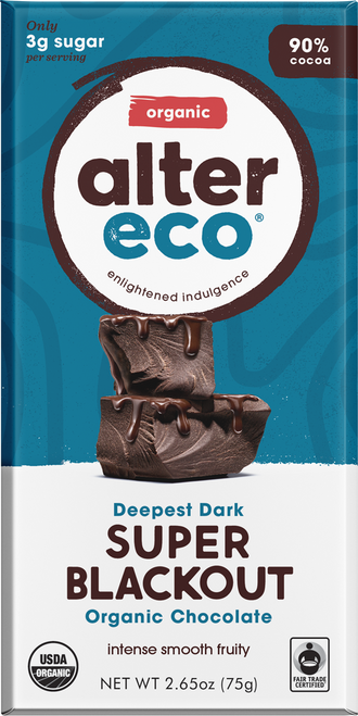 Dark Chocolate Super Blackout Organic 75g - Alter Eco