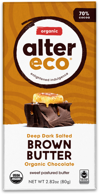 Dark Chocolate Brown Butter Organic 80g - Alter Eco