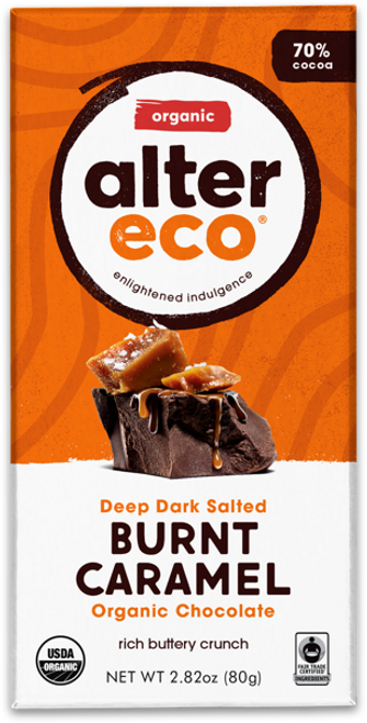 Dark Chocolate Salted Burnt Caramel Organic 80g - Alter Eco