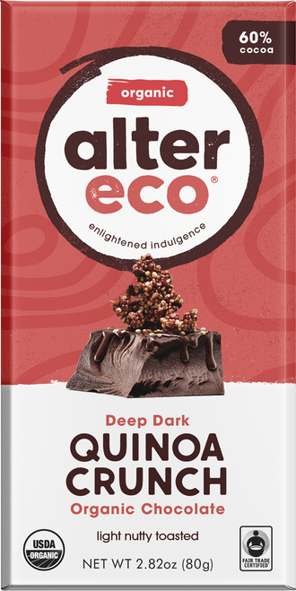 Dark Chocolate Quinoa Crunch Organic 80g - Alter Eco