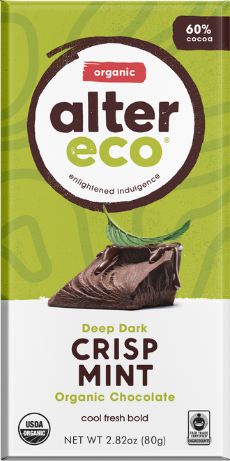 Dark Chocolate Crisp Mint Organic 80g - Alter Eco