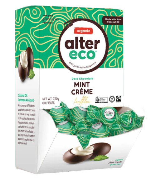 Truffles SINGLE Dark Mint Creme Organic 12g - Alter Eco