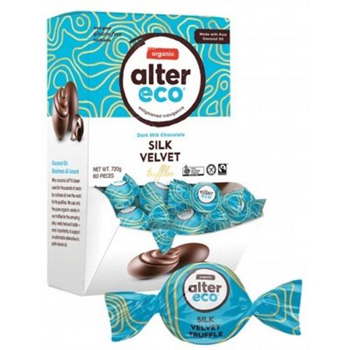Truffles SINGLE Dark Milk Silk Velvet Organic 12g - Alter Eco