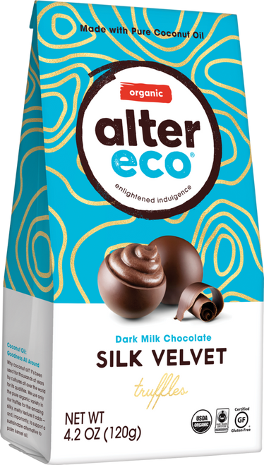Truffles Dark Milk Silk Velvet Organic 108g - Alter Eco
